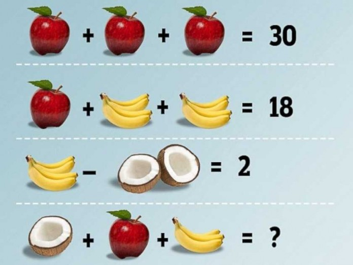 Fruit Math Problem is driving everyone crazy!