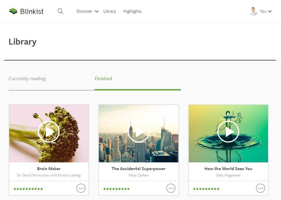 Blinkist Review - Screenshot of App Software