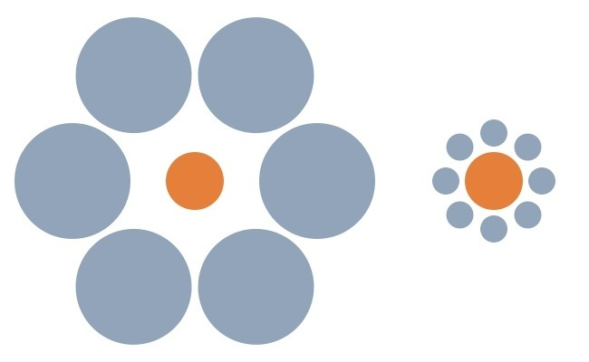 Contrast Illusion - Big Small Circles