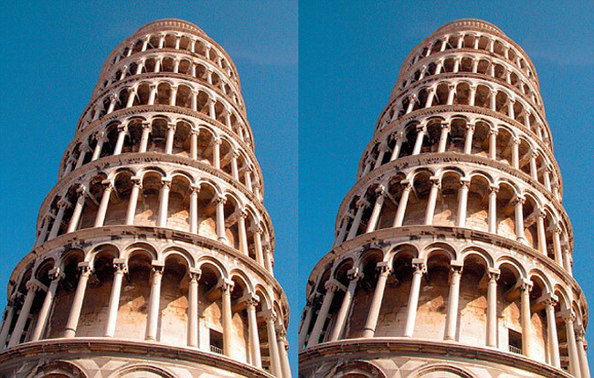 Leaning Tower of Pizza Perspective Illusions