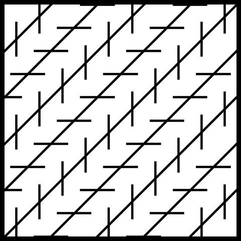 Diagonal Crooked Line Illusions