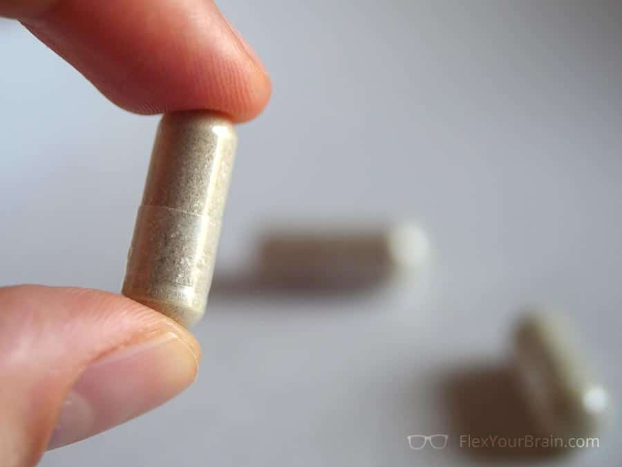Another Up close shot of Mind Lab Pro pills - Mind Lab Pro Review