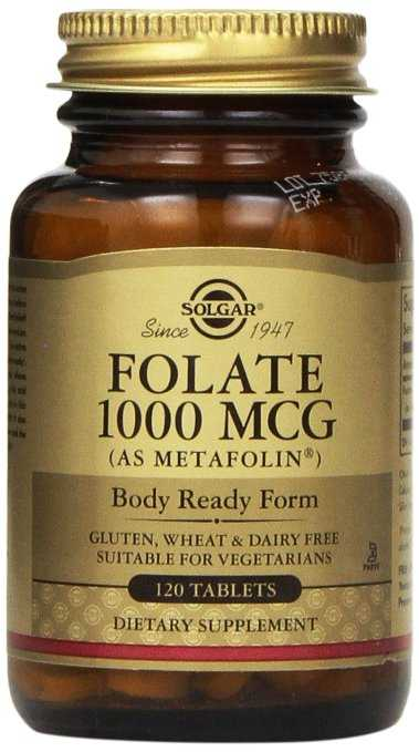 solgar methyl folate - 1000 mg - Metafolin