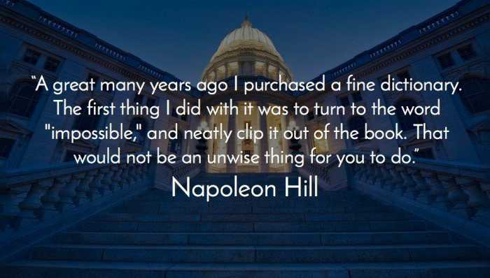 Think Grow Rich summary review - Napoleon Hill Quote
