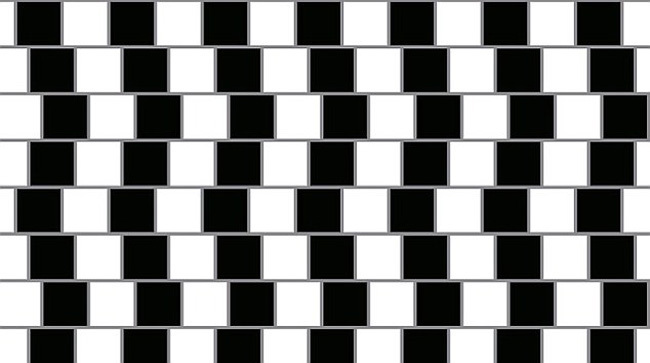 best line illusion - Is it crooked