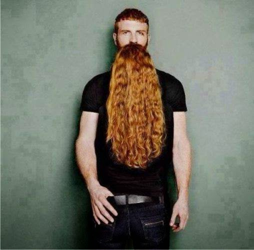 Man with beard illusion