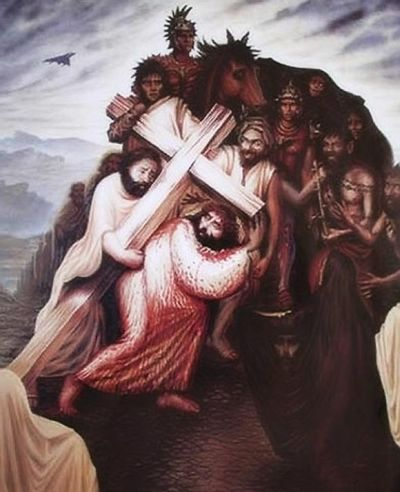 Hidden Jesus face in this Illusion