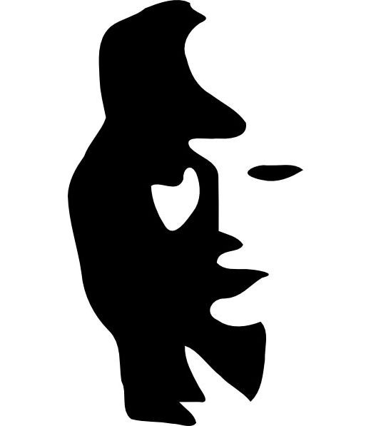 jazz man or is it a womans face? Find both in this illusion