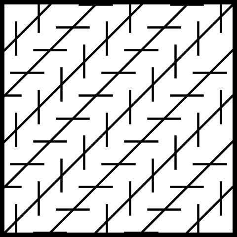 Diagonal Crooked Line Illusions